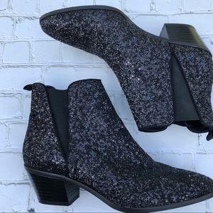Zara Chelsea Glitter Ankle Boots